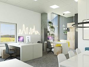 Jasno i prosto - przestrzeń biurowa w hali
