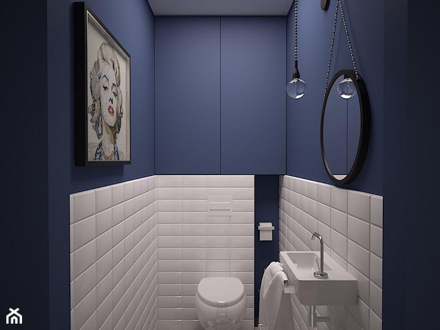 łazienka Granat I Biel Zdjęcie Od Ola Kulisz
