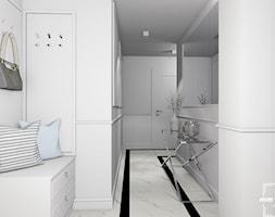 Mieszkanie w Białymstoku - Średni biały hol / przedpokój - zdjęcie od MM Design Pracownia Wnętrz
