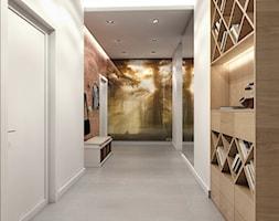 Mieszkanie Gdynia Apartamenty na Polanie - Średni biały hol / przedpokój, styl skandynawski - zdjęcie od Inka Studio