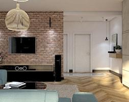 Dom Banino - Średni biały beżowy salon, styl nowoczesny - zdjęcie od Inka Studio - Homebook