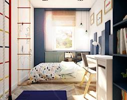 Nowoczesne mieszkanie w starym bloku- to możliwe - Średni biały niebieski pokój dziecka dla chłopca dla dziewczynki dla ucznia dla malucha dla nastolatka, styl nowoczesny - zdjęcie od Inka Studio - Homebook