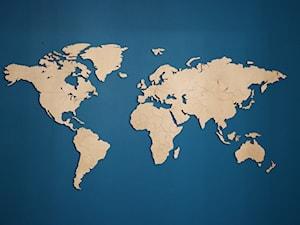 Drewniana mapa świata www.sikorka.net - zdjęcie od SIKORKA.NET - Drewniane mapy świata na ścianę