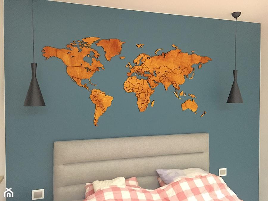 Drewniana Mapa świata Wwwsikorkanet Zdjęcie Od Sikorka