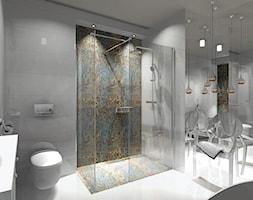 Łazienka 9m2 z użyciem płytki Carpet Vestige - Średnia łazienka w bloku w domu jednorodzinnym bez okna - zdjęcie od MG Design