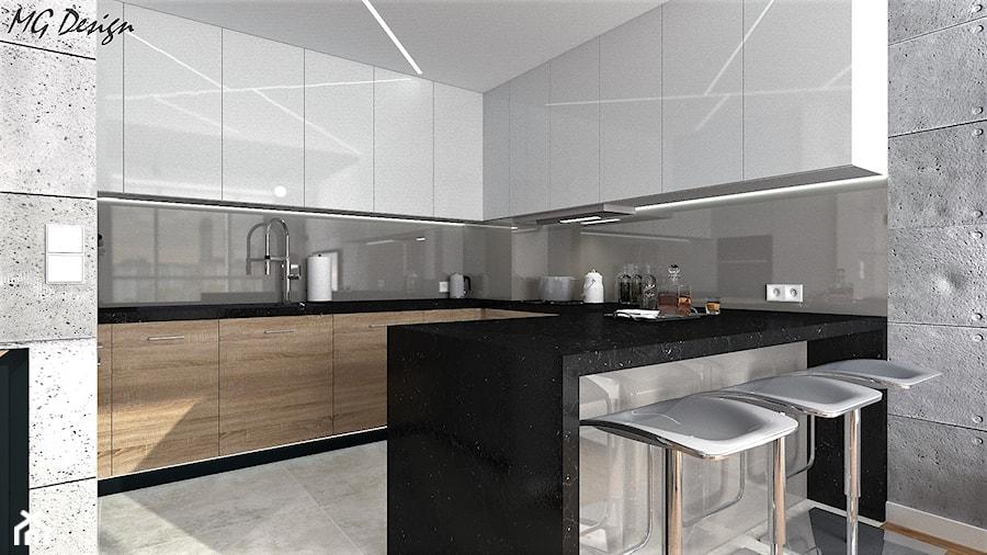 Kuchnia Z Barkiem I Widokiem Na Salon Zdjecie Od Design Decor