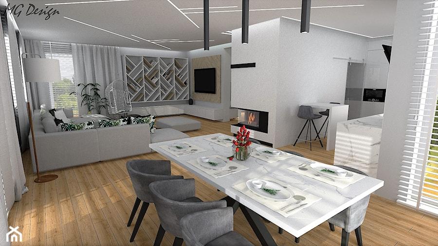 Dom w Walidrogach - Jadalnia, styl skandynawski - zdjęcie od MG Design