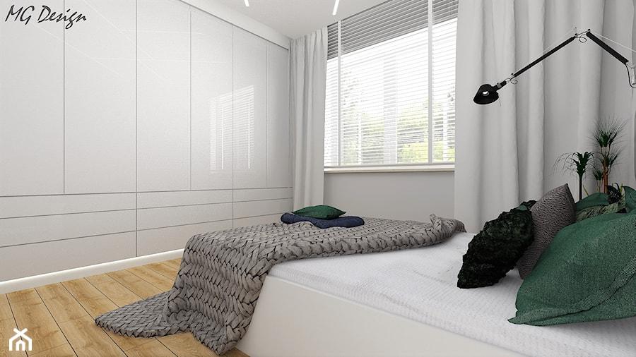 Dom w Walidrogach - Średnia szara sypialnia małżeńska, styl nowoczesny - zdjęcie od MG Design