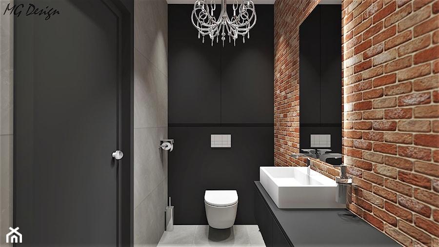 Toaleta Ze ścianą Ceglaną Zdjęcie Od Mg Design Homebook