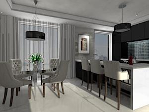 Kuchnia z jadalnią i barkiem - zdjęcie od MG Design
