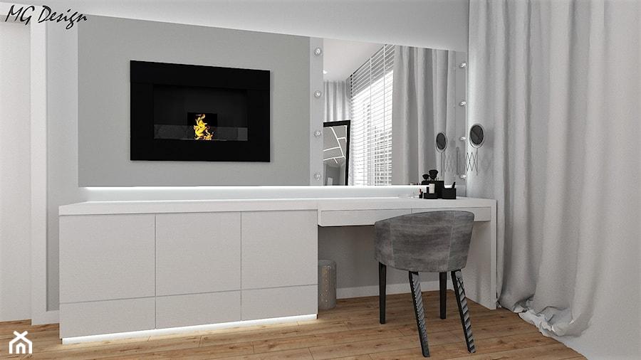 Dom w Walidrogach - Szara sypialnia, styl nowoczesny - zdjęcie od MG Design