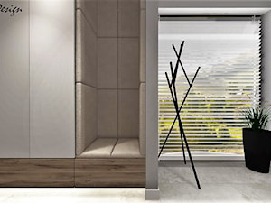 Dom w Lędzinach - Mały szary hol / przedpokój, styl nowoczesny - zdjęcie od MG Design