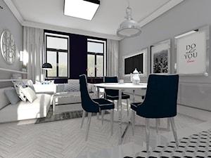 Salon z kuchnią - zdjęcie od MG Design