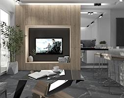Salon+z+aneksem+kuchennym+%C5%9Bciana+z+TV+-+zdj%C4%99cie+od+MG+Design