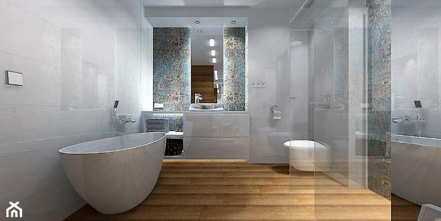 łazienka 9m2 Z Użyciem Płytki Carpet Vestige średnia Szara