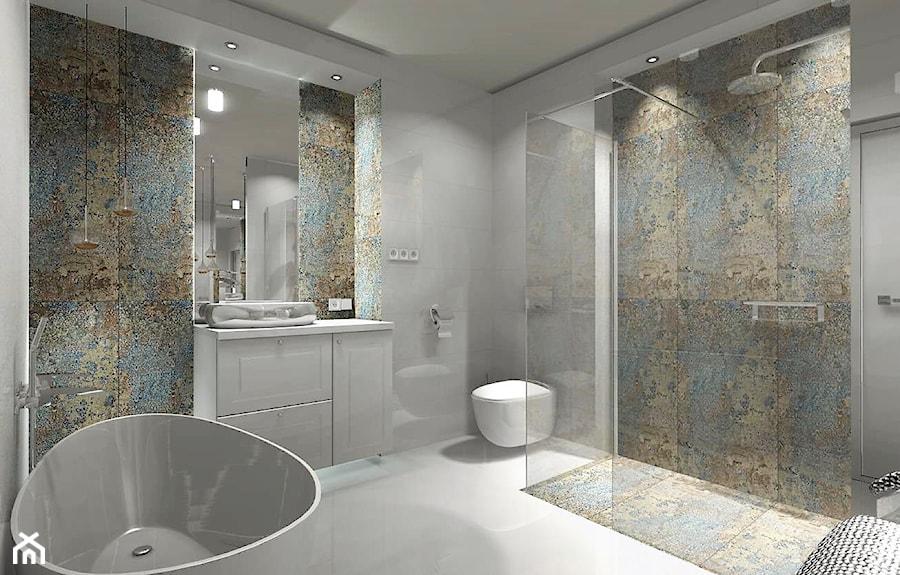 łazienka 9m2 Z Użyciem Płytki Carpet Vestige Duża łazienka