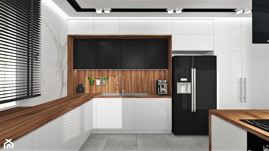 Kuchnia otwarta na jadalnię - zdjęcie od MG Design