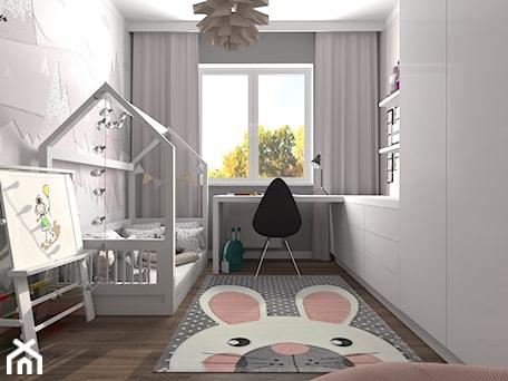 Aranżacje wnętrz - Pokój dziecka: Pokój Dominiki - Średni biały szary różowy pokój dziecka dla dziewczynki dla malucha, styl skandynawski - MG Design. Przeglądaj, dodawaj i zapisuj najlepsze zdjęcia, pomysły i inspiracje designerskie. W bazie mamy już prawie milion fotografii!