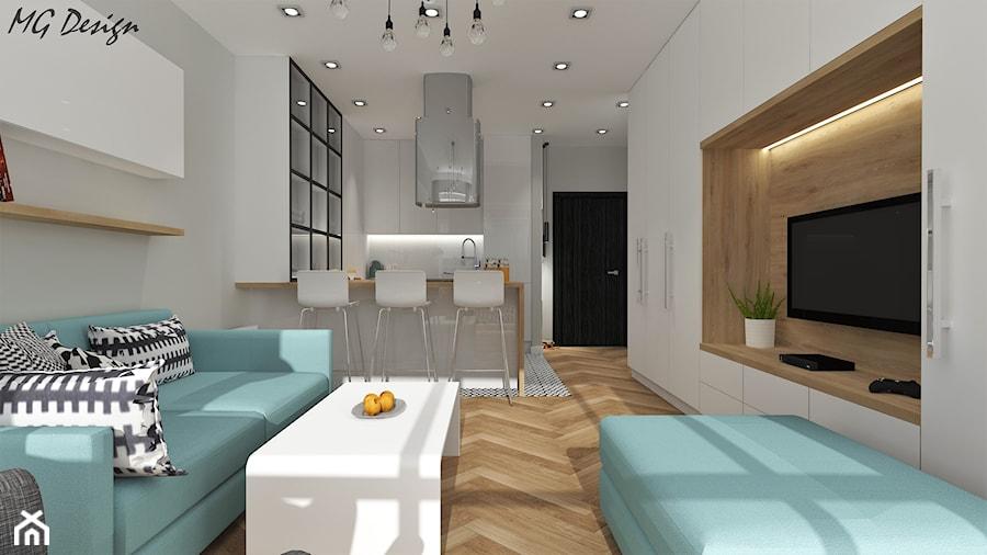 Salon Otwarty Na Kuchnię Skandynawski Ikea Zdjęcie Od Mg