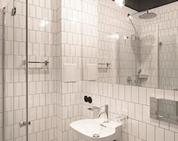 Kawalerka w zabytkowej kamienicy - Mała łazienka, styl vintage - zdjęcie od DEMBOWSKA / JAGIEŁŁO studio architektury - Homebook