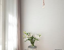 Kawalerka w zabytkowej kamienicy - Mały szary salon, styl eklektyczny - zdjęcie od DEMBOWSKA / JAGIEŁŁO studio architektury - Homebook