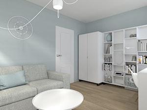 MIESZKANIE SINGIELKI - Średni szary miętowy pokój dziecka dla ucznia dla nastolatka, styl skandynawski - zdjęcie od NOKODESIGN
