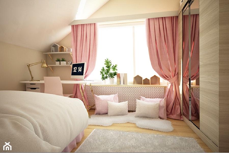 Pokój Dziewczynki Unicorne Love Mała Beżowa Sypialnia