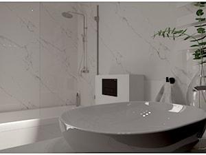 Łazienka w stylu klasycznym z dodatkiem nowoczesności.