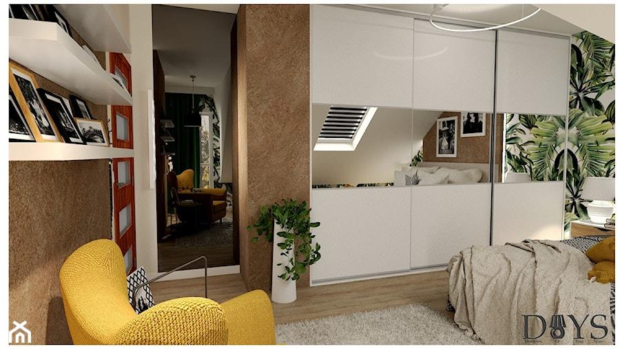 Sypialnia na poddaszu - zdjęcie od Projekty Wnętrz DOYS