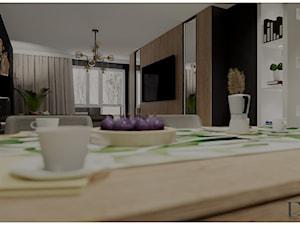 Salon z kuchnią i przedpokój
