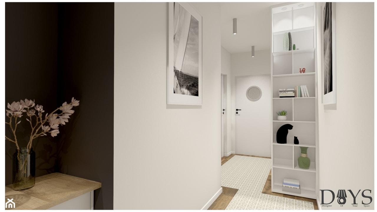 Mieszkanie 78m2 - Hol / przedpokój, styl nowoczesny - zdjęcie od Projekty Wnętrz DOYS - Homebook
