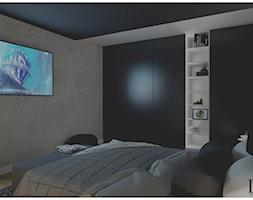 Nowoczesna klimatyczna sypialnia - zdjęcie od Projekty Wnętrz DOYS - Homebook