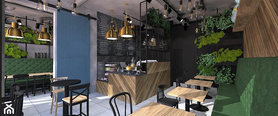 """Projekt kawiarni """"Za szybą"""" w Tychach - zdjęcie od Aleksandra Ciurkot architektura wnętrz"""