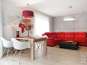 Dom z czerwienią