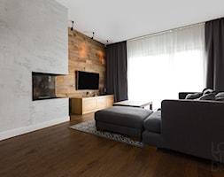 Dom w Zieleni - Średni salon z tarasem / balkonem, styl prowansalski - zdjęcie od Loftstudio