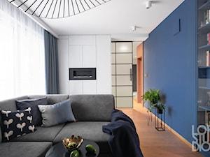 Mieszkanie z niebieskim motywem