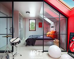 Apartament z kolorem - Sypialnia, styl nowoczesny - zdjęcie od Loftstudio - Homebook