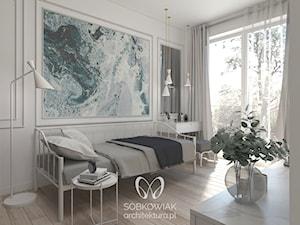 Klasyczne wnętrze mieszkania na warszawskiej Pradze - Średnia biała sypialnia dla gości, styl klasyczny - zdjęcie od Sobkowiak Architektura