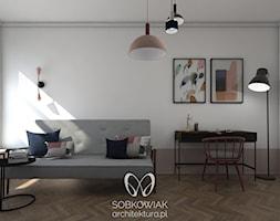 Colourful 50's - Średnia biała szara sypialnia dla gości - zdjęcie od Sobkowiak Architektura - Homebook