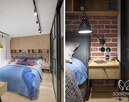 Sypialnia z ceglaną ścianą - zdjęcie od Sobkowiak Architektura - Homebook