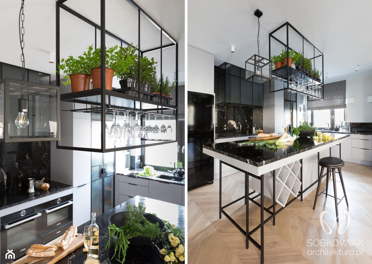 klasyczna kuchnia z elementami industrialnymi - zdjęcie od Sobkowiak Architektura - Homebook