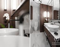 łazienka w stylu klasycznym z meblami w kolorze drewna orzechowego - zdjęcie od Sobkowiak Architektura