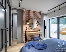 Industrialna sypialnia w stylu skandynawskim - zdjęcie od Sobkowiak Architektura - Homebook