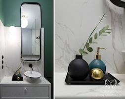 zielono biała łazienka w stylu klasycznym - zdjęcie od Sobkowiak Architektura