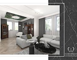 Klasyczne wnętrze podwarszawskiego domu jednorodzinnego - Salon, styl klasyczny - zdjęcie od Sobkowiak Architektura - Homebook