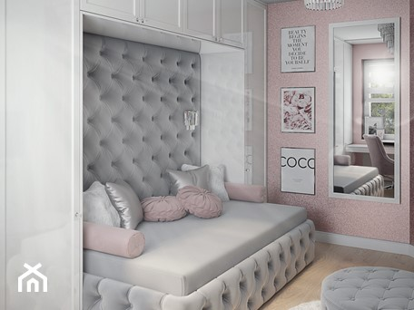 Aranżacje wnętrz - Pokój dziecka: Pokój dla nastolatki w stylu glamour - ProjecTOWN Izabela Czado. Przeglądaj, dodawaj i zapisuj najlepsze zdjęcia, pomysły i inspiracje designerskie. W bazie mamy już prawie milion fotografii!