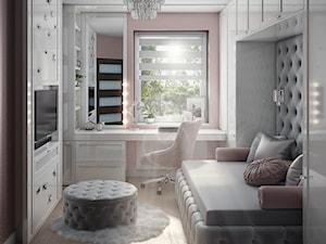 Pokój dla nastolatki w stylu glamour