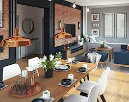 Salon+z+kuchni%C4%85+i+jadalni%C4%85+w+stylu+loftowym+-+zdj%C4%99cie+od+ProjecTOWN+Izabela+Czado