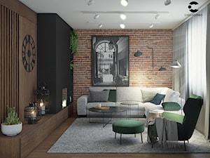 Mieszkanie w stylu nowoczesnym z domieszką loftu