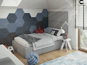 Pokój dla chłopca_w bieli, czerni i błękitach